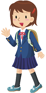 school girl in uniform (cartoon)